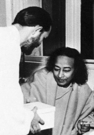 Swami Kriyananda with Paramhansa Yogananda