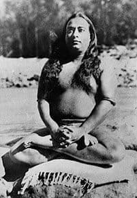 Paramhansa Yogananda in Lotus Pose