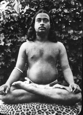 Young Paramhansa Yogananda in Lotus Pose