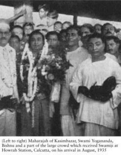 Paramhansa Yogananda at Howraj Station Kolkata