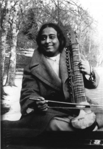 Paramhansa Yogananda Playing the Esraj