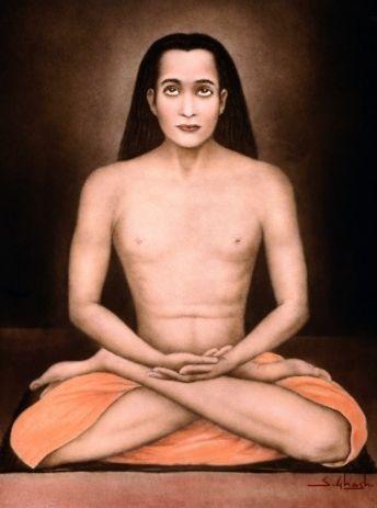 Mahavatar Babaji in Lotus Pose