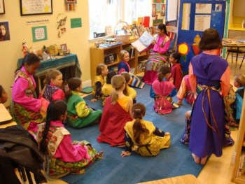 Children Dressed up in Class