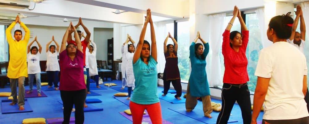 Yoga Class in Ananda Pune Center