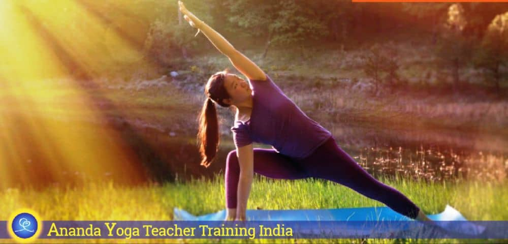 Young Woman Practicing Yoga Outside