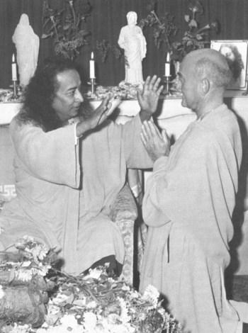 Paramhansa Yogananda Blessing Rajarsi Janakananda
