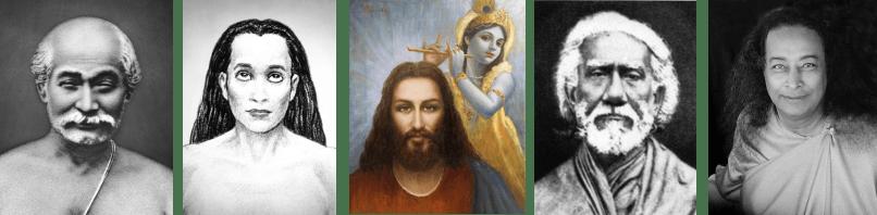 Lineage of Gurus: Lahiri Mahasaya, Mahavatar Babaji, Jesus Christ and Krishna, Sri Yukteswar, Paramhansa Yogananda