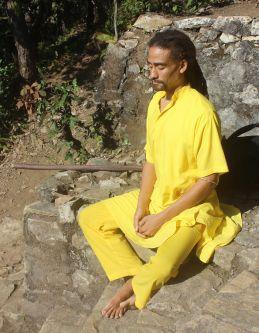 Monk (Brahmachari Jemal) Meditating