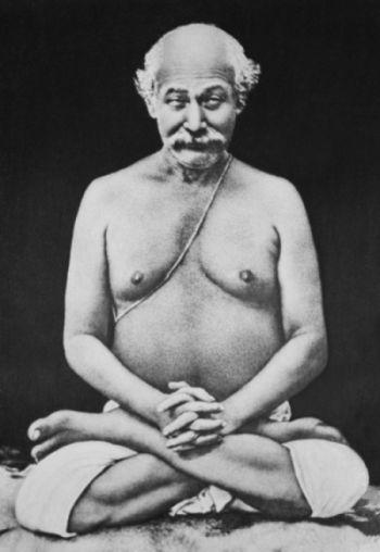 Lahiri Mahasaya in Lotus Pose