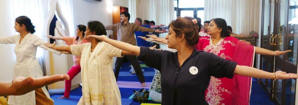 Yoga Session in Ananda Delhi Center