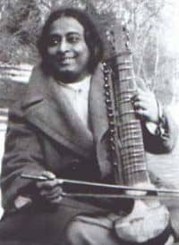 Paramhansa Yogananda Playing Esraj