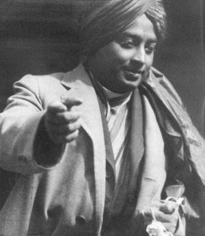 Paramhansa Yogananda with Turban