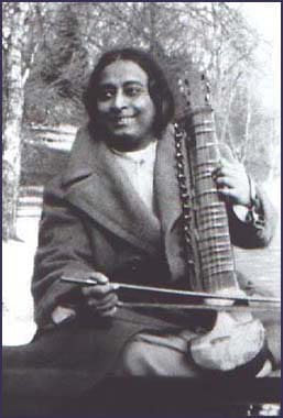 Paramhansa Yogananda Playing the Esraj