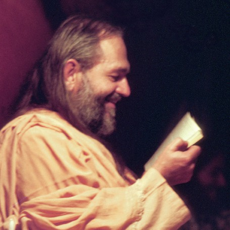 Young Swami Kriyananda Reading a Book