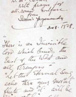 Original Letter by Paramhansa Yogananda