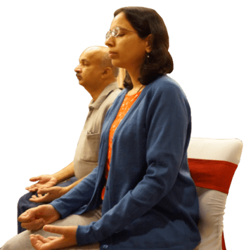 Two Devotees Meditating
