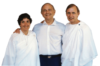 Young Jyotish and Devi with Swami Kriyananda
