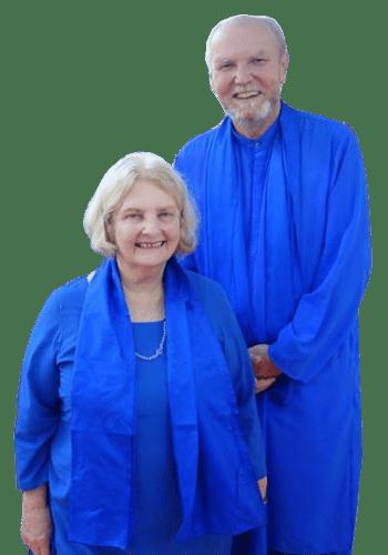 Nayaswami Sadhana Devi and Nayaswami Jaya