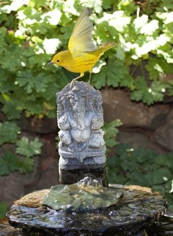 Bird with Ganesh Statue