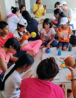 Painting Pots at Summer Camp
