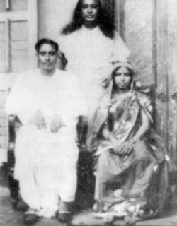 Yogananda with His Sister and Husband