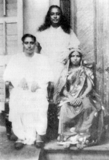 Yogananda with His Sister and Husband