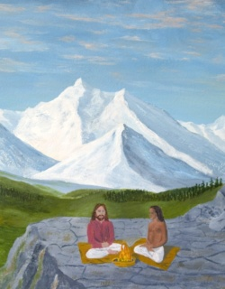 Painting Jesus and Babaji