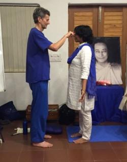 Latha and Nayaswami Gyandev