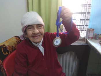 Lady with Medal