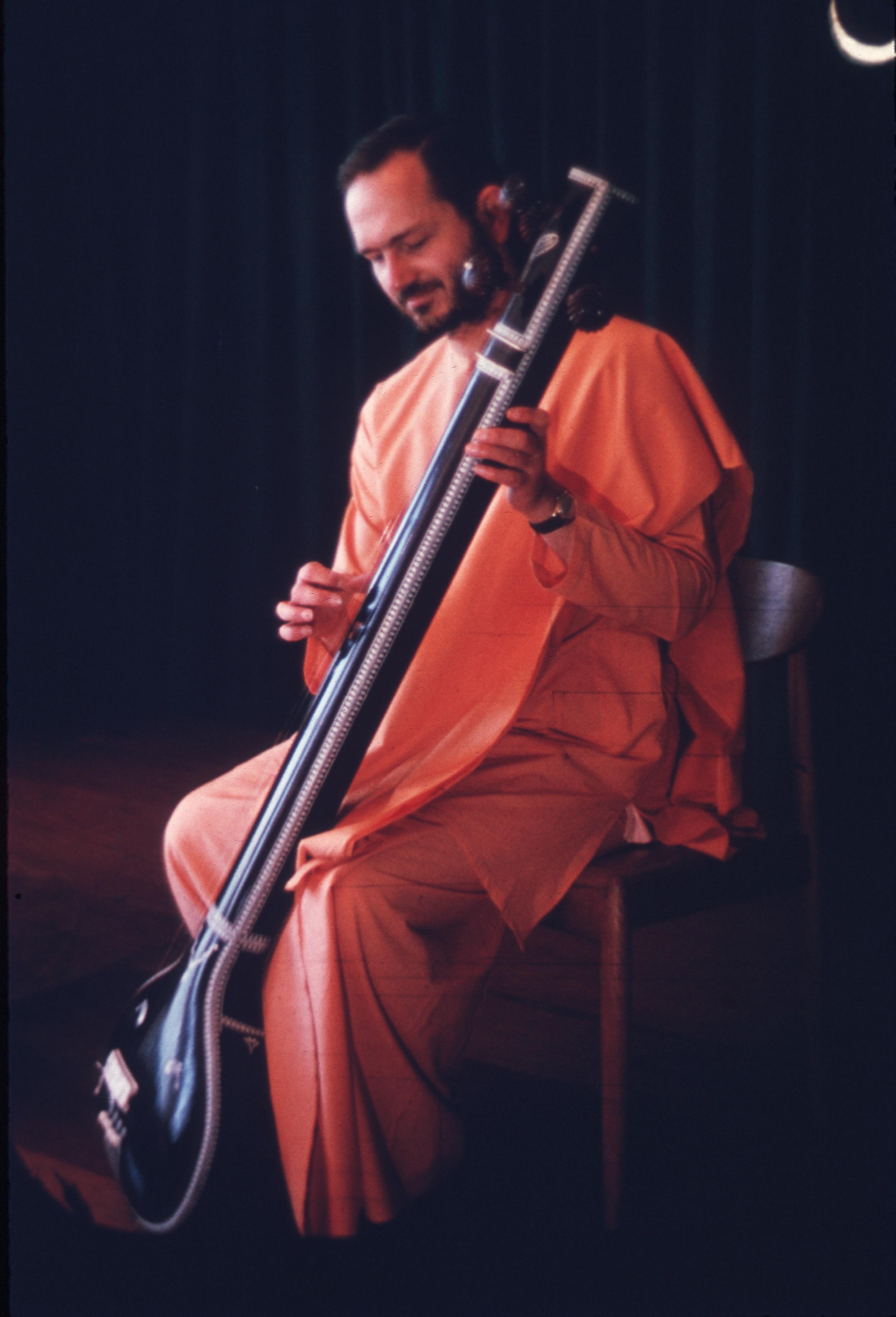 Swami Playing Tamboura