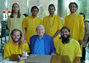 Swami with Monks