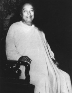 Yogananda on Chair