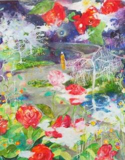 Paining by Sumakshi Singh, renowned Kriyaban artist from Ananda Gurgaon