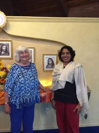 Latha with Nayaswami Savitri